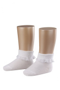 Baby Girls 1 Pair Falke Romantic Lace Trim Ankle Socks