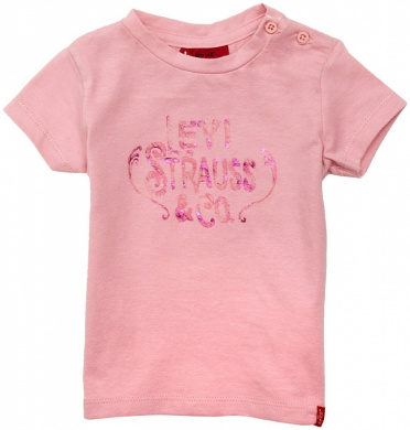 Levi's Baby Girl's N91068A - 32/18M Short Sleeve T-Shirt Pink 18 Months
