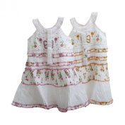 Girls Butterfly and Flower Design Summer Dress with Headband (3 Year)