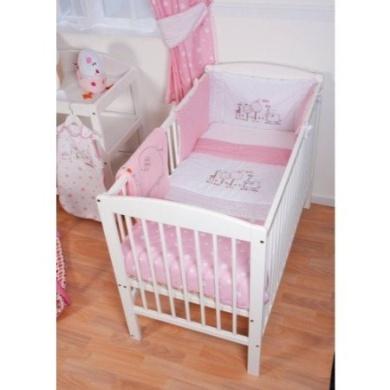 RED KITE Hello Ernest Cosi Cot 4 Piece Bedding Set (Pink)