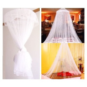 TRIXES Bed Sleeping King Canopy Netting Insect Mosquito Fly Net White