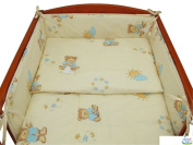 3 PIECE NURSERY BABY BEDDING SET (reg to fit COT 60x120cm) - Bear Beige