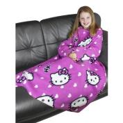 Childrens/Kids Girls Hello Kitty Sleeved Fleece Snuggle Blanket (90cm x 120cm)