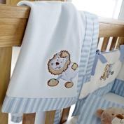Patch Blue Fleece Blanket - Lion