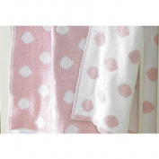 Walton Baby - Knitted Softee Pushchair Blanket - Pink Spot