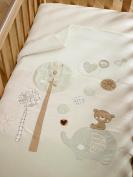 Organic Cotton Cot/Cotbed Quilt - Teddy & Ele Range