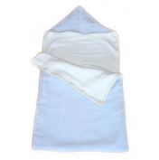 Pastel Blue and White Reversible Fleece Baby Sack by Tweedmill Textiles