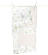 Little Giraffe Luxe Cream Dot Baby Blanket
