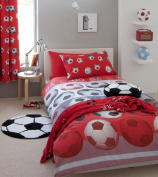 Football Red Single Bed Duvet Quilt Cover