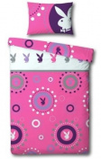 PLAYBOY REVERSIBLE SINGLE BED DUVET QUILT COVER BEDDING SET OFFICIAL - NEW
