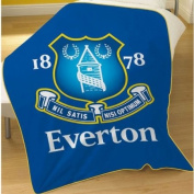 Everton Football Club Crest Fleece Throw Blanket