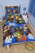 Teenage Mutant Ninja Turtles Dudes Single Reversible Bedding Quilt Duvet Cover Set