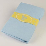Blue Terry Towelling Cot Bed Size Fitted Sheet