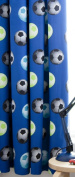 Catherine Lansfield Kids Football Curtains, Blue