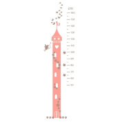 Fairy princess height chart wall sticker by Stickerscape - Part of the Fairy Princess collection - 165cm (h) x 45cm