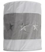 Taftan Stars Silver Lampshade Fabric