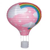 Rainbow Balloon Light Shade - PINK Paper Lantern Bedroom Fun Lamp