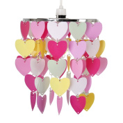 Girls Pretty Hearts Bedroom/Nursery Ceiling Pendant Light Shade