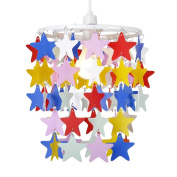 Children's Bedroom/Nursery Multi Coloured Stars Ceiling Pendant Light Shade