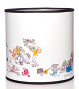Quentin Blake Pendant Lampshade featuring the pots and pans illustration from the 'All Join in' book by Quentin Blake.