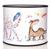 Quentin Blake Pendant Lampshade featuring 'Frabjous Beasts' illustrations from Quentin's collection.