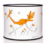 Quentin Blake Pendant Lampshade featuring running birds in black and white drawn exclusively for Stamp Creative.