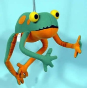 Springy Frog Animal Brightly Coloured Mobile
