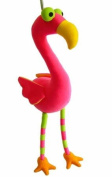 Springy Baby Flamingo Animal Brightly Coloured Mobile
