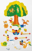Children's Nursery Wooden Hanging Mobile - Treehouse