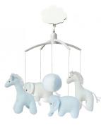Trousselier VM1149 02 Mobile Musical Giraffe / Elephant Blue / White