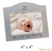 "Bambino Baby Christening Gifts. Silverplated ""Me & My Family"" Photo Frame - 15cm x10cm"