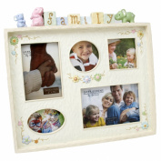 "Resin 'Family"" Multi Apeture Frame Carved Style Cube Design"