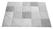 Taftan 100% Cotton Patchwork Cheques Playpen Mat 100 x 80cm