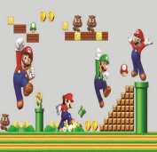 Super Mario bros Nursery wall sticker decor Boys bedroom,baby room decorative wall decal Removable mural