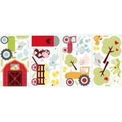 Jomoval Room Mates Repositionable Children's Happi Barnyard Wall Stickers