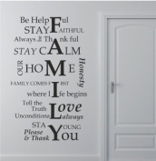 100cm X 60cm Large Family wall decor Family I love you wall saying vinyl lettering art decal quote sticker home decal Nursery wall sticker decor Boys and girls room wall decal Removable mural