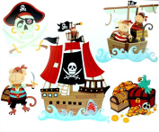 Wall Decoration Stickers - Pirate Ship & Treasure Chest! Top Childrens Gift Idea