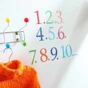 Kidscapes 1-10 Number Wall Stickers, includes Numbers and Counters 1-10, Harlequin Bright
