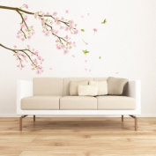 Cherry Blossoms Tree Branch - Mural - Wall Stickers Home Art Deco Wall Decals