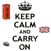 RoomMates Repositionable Childrens Wall Stickers Keep Calm and Carry On