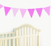 FunToSee Bunting Wall Stickers and Decals Set