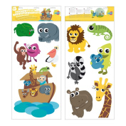 Mikidi 370183 Stickers Repositionable Noah's Ark