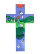 Child's cross with colourful illustration