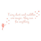 Fairy dust and cuddles quote by Stickerscape - 130cm x 66cm - Wall decal - Wall art - Wall graphic