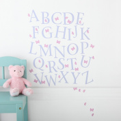 Kidscapes Alphabet Uppercase Wall Stickers, Stickers A - Z and 43 Butterfly Stickers, Butterfly