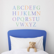Kidscapes Alphabet Uppercase Wall Stickers, 26 Stickers A - Z, Harlequin