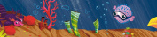 Wandpiraten 340 X 11.65cm Self-Adhesive Underwaterworld