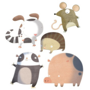 Wall Glamour Childrens Wall Stickers Countryside Animals