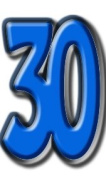Number 30 - Birthday Party Lifesize Cardboard Cutout / Standee / Standup