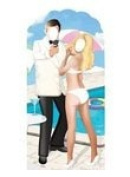 SECRET AGENT STAND-IN - LIFESIZE CARDBOARD CUTOUT